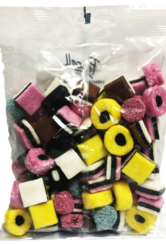 TANG01 PASCALL 450G LIQUORICE ALLSORTS PRE-PACK x24 BAGS